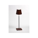 Lampada ricaricabile da tavolo Poldina Zafferano in alluminio corten cm 30