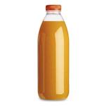 Bottiglia Servipack in pet trasparente con tappo arancione lt 1