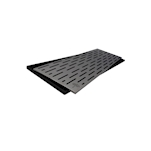 Bar mat in gomma nera con griglia in acciaio cm 60x20