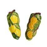 Poggiamestolo Frutta in ceramica dipinta a mano in colori assortiti cm 28x11