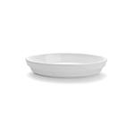 Pirofila ovale Cordonata Impilabile in porcellana bianca cm 36x22x5