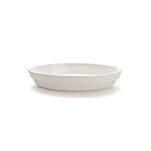 Pirofila ovale Cordonata Impilabile in porcellana bianca cm 32x20x5