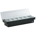 Porta condimenti 6 vaschette policarbonato nero cm 49,5x15x9