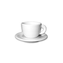 Tazza caffè con piatto Edex in porcellana cl 19