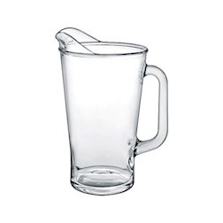 Brocca vetro Conic Borgonovo in vetro lt 1,8
