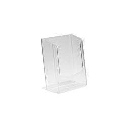 Porta tovaglioli in plastica trasparente cm 12,5x9,5x6,2
