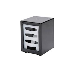 Box portatovaglioli in plastica nera