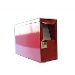 Porta tovagliolo Zip in metallo rosso cm 40x4