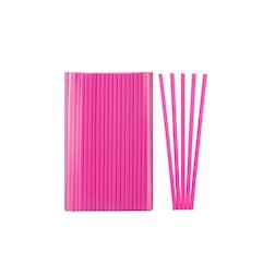 Cannuccia drinking straw plastica cm 21 fucsia