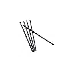 Cannucce - Drinking Straws in plastica colore nero cm 16