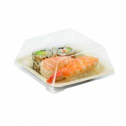 Vassoio piatto quadrato monouso in legno cm 11,5