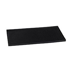 Bar mat impilabile in gomma nera cm 30x15x1