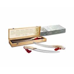 Sciabola Sommelier Pulltex in acciaio inox cm 45 con scatola in legno