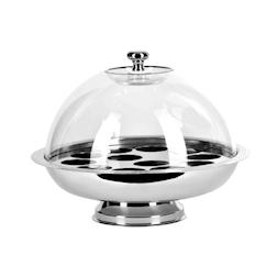 Porta yogurt termico con cupola in acciaio inox