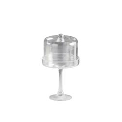 Alzata con cupola in vetro cm 29x16,5