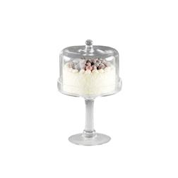 Alzata con cupola in vetro cm 30x19