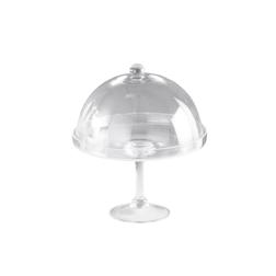 Alzata con cupola in vetro cm 30x34
