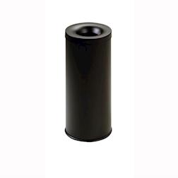 Gettacarta autoestinguente in acciaio inox nero lt 25