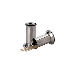 Porta stuzzicadenti in acciaio inox cm 5,2x2,5