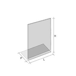 Espositori Tris in plexiglass cm 21 x 16