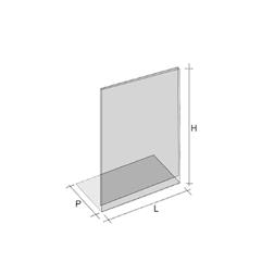 Espositori in plexiglass cm 21 x 8