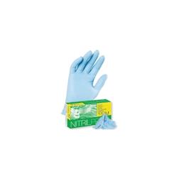 Guanti Nitril senza polvere in nitrile blu taglia M