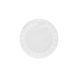 Pizzi tondi in carta bianca cm 28