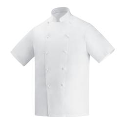 Giacca cuoco Security Egochef cotone taglia XXL mezza manica bianca