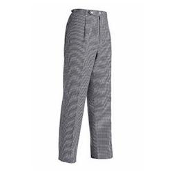 Pantalone cuoco unisex quadro grande Egochef taglia S bianco/nero