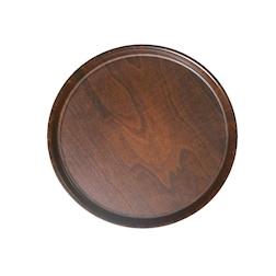 Vassoio Tondo Birra effetto legno antiscivolo marrone cm 36