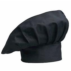 Cappello cuoco classico Egochef poliestere cotone nero