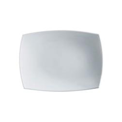 Piatto rettangolare Linea Delice Arcoroc in vetro bianco 35x21 cm