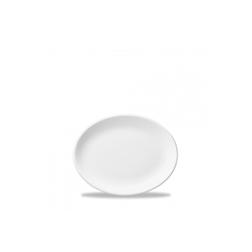 Vassoio ovale White Nova Churchill in ceramica vetrificata bianca cm 20,3