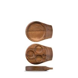 Vassoio Linea Igneous Churchill in legno cm 18 x 14
