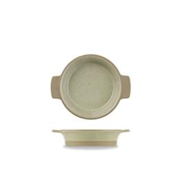 Pirofila tonda Linea Igneous Churchill in porcellana cm 14