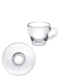 Tazza caffè Ischia Borgonovo in vetro cl 8 con piattino