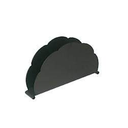 Portatovaglioli nuvola in acciaio inox nero