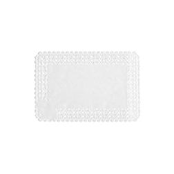 Pizzi rettangolari in carta bianca cm 25x35