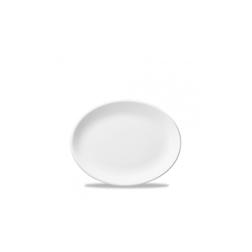Vassoio ovale White Nova Churchill in ceramica vetrificata bianca cm 28