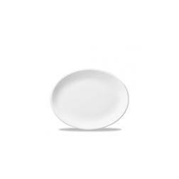 Vassoio ovale White Nova Churchill in ceramica vetrificata bianca cm 30,5