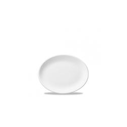 Vassoio ovale White Nova Churchill in ceramica vetrificata bianca cm 23