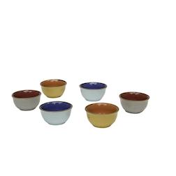 Coppetta pinzimonio Mediterraneo in ceramica colorata cm 7,5