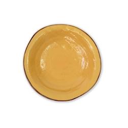 Piatto fondo Mediterraneo in ceramica giallo