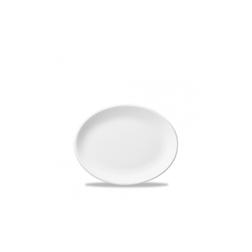 Vassoio ovale White Nova Churchill in ceramica vetrificata bianca cm 25,4