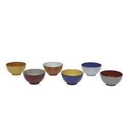 Tazza cereali Mediterraneo in ceramica colorata cm 15