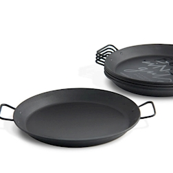 Mini paellera nera 100% Chef in plastica cm 18