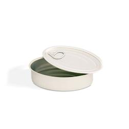 Scatoletta ovale 100% Chef in alluminio con coperchio