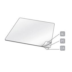 Coperchio accoppiato cartone alluminio per contenitore 3 scomparti lt 0,81