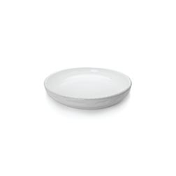 Pirofila rotonda Cordonata Impilabile in porcellana bianca cm 32x4,5