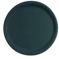 Vassoio polipropilene 40,5cm antiscivolo rotondo nero